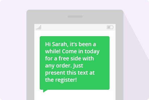automated personalized text messaged