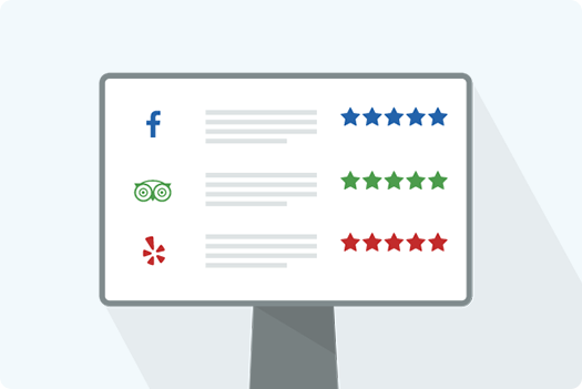 Automatically collect reviews after customer checks in